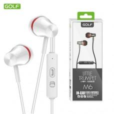 Slušalice + mikrofon GOLF M6 bele