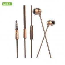 Slušalice + mikrofon GOLF M7 zlatne