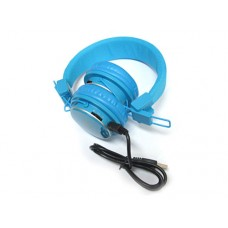 Slušalice MRH-8809 microSD/FM plave
