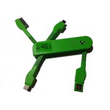 USB punjač univerzalni za mobilne zeleni
