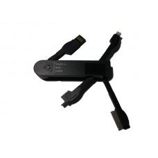 USB punjač univerzalni za mobilne crni