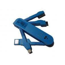 USB punjač univerzalni za mobilne plavi