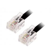 Telefonski kabl 5m crni TEL-RJ11/BK