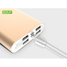 Power bank GOLF EDGE15 15000mAh gold 4xUSB