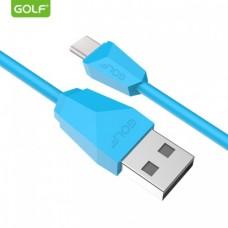 USB kabl tip C 1m GOLF GC-27T plavi