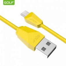 USB kabl tip C 1m GOLF GC-27T žuti