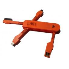 USB punjač univerzalni za mobilne narandžasti